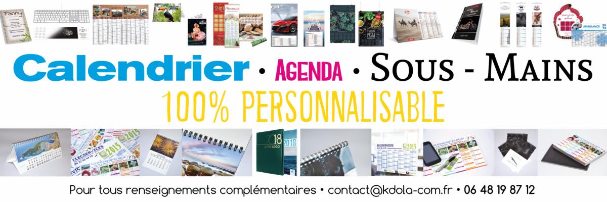 Calendrier / sous-main / Agenda